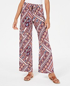 Juniors' Geo-Printed Soft Palazzo Pants