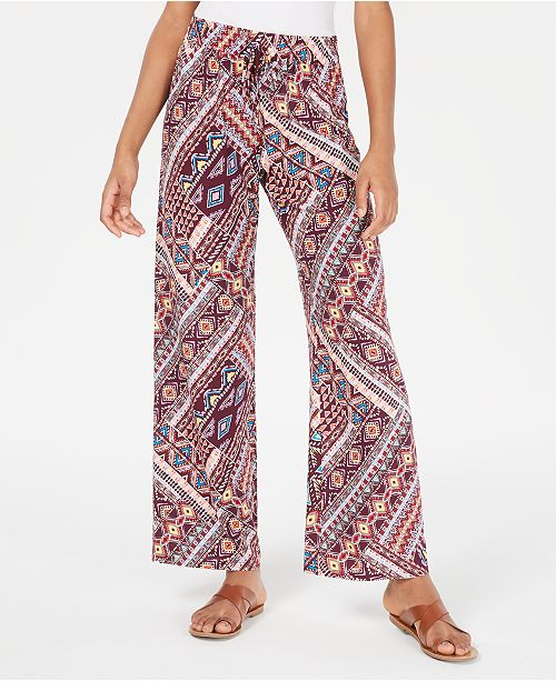 Be Bop Juniors' Geo-Printed Soft Palazzo Pants