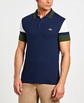 cd245f310 Lacoste Men s Slim Fit Colorblock Stretch Piqué Polo Shirt