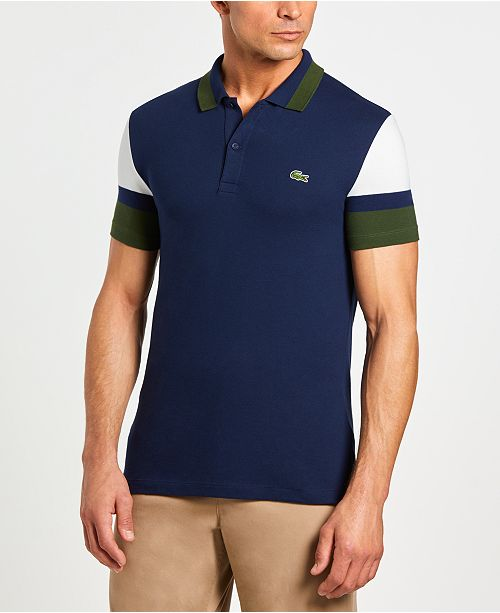 9327f896e ... Polo Shirt  Lacoste Men s Slim Fit Colorblock Stretch Piqu eacute  ...
