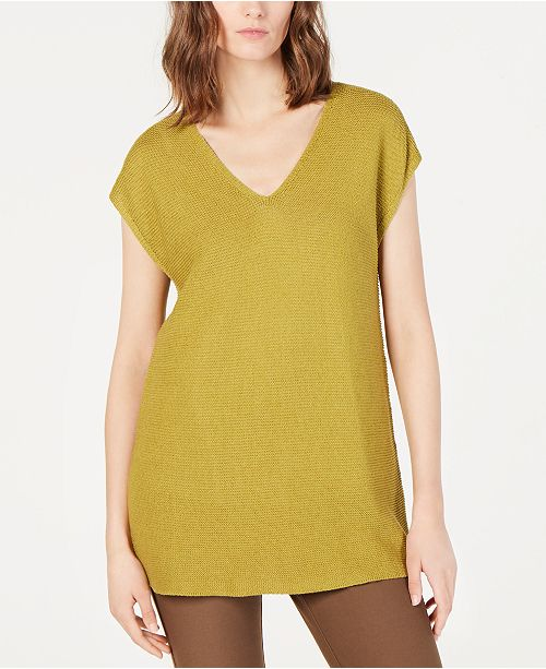 Eileen Fisher Woven V-Neck Tunic