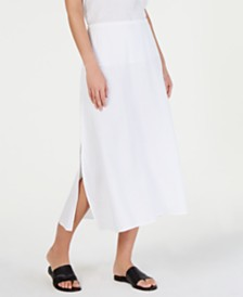 Eileen Fisher Organic Cotton A-Line Maxi Skirt
