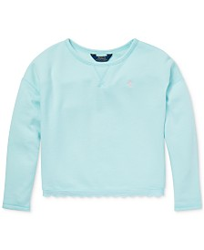 Polo Ralph Lauren Big Girls Scallop-Trim French Terry Sweatshirt