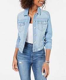 Juniors' Distressed Jean Jacket