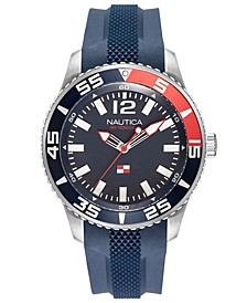 Men's NAPPBP901 Pacific Beach Navy/Black Silicone Strap Watch