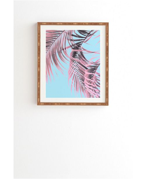 Deny Designs Delicate Pink Palms Framed Wall Art