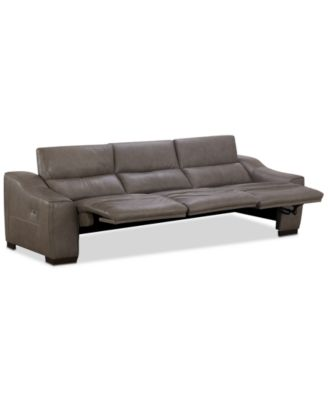 Ruthin 3-Pc. Leather Sectional Sofa with 3 Power Recliners