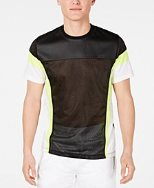 INC Men's Pieced Colorblocked Mesh T-Shirt, Created for Macy's