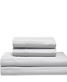 Cooling Cotton Satin Stripe Full Sheet Set