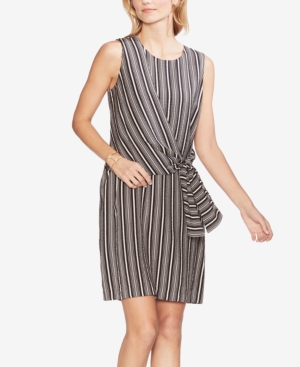 Vince Camuto Dresses STRIPED TIE-WAIST DRESS