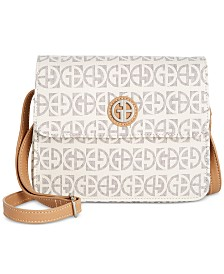 Giani Bernini Block Signature Crossbody Organizer, Created for Macy's