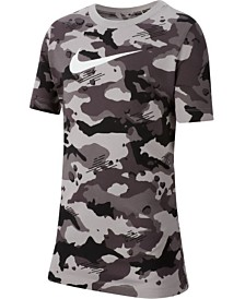 Nike Big Boys Camo-Print Cotton T-Shirt