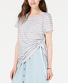 Striped Side-Ruched Top, Created for Macy's