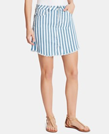WILLIAM RAST Joey Striped Denim Skirt