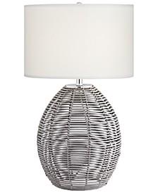 Grey Basket Table Lamp