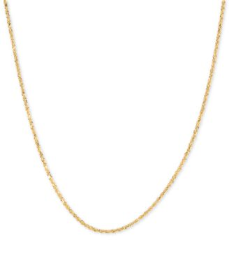 Minimalist Necklace Flat Link Chain Gold Necklace Sparkle Chain Necklace 14K Gold Glitter Chain Necklace 14K Solid Gold Chain Necklace