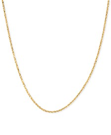 "Glitter Rope 18"" Chain Necklace in 14k Gold"