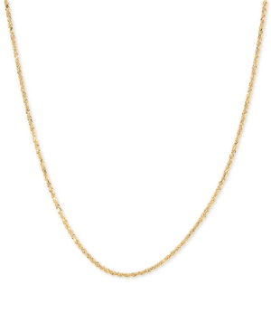 """Glitter Rope 18"""" Chain Necklace in 14k Gold"""