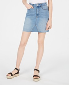 Tinseltown Juniors' Denim Mini Skirt