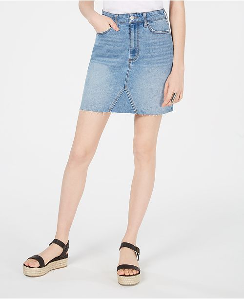 Tinseltown Juniors' Denim Mini Skirt