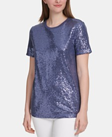 DKNY Sequined Top
