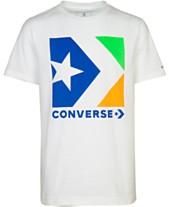 dc5fac41 Converse Big Boys Chevron Star Logo Graphic Cotton T-Shirt