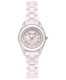 Woman's Light Pink Ceramic Bracelet Watch 26mm