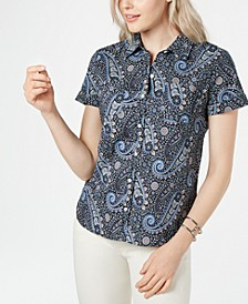 Pacific Paisley Button-Up Camp Shirt
