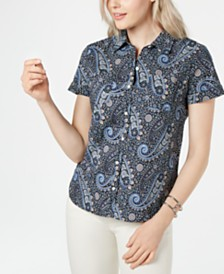 Tommy Hilfiger Pacific Paisley Button-Up Camp Shirt