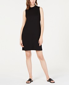 Eileen Fisher Mock-Neck Slim Tencel ™ Dress, Regular & Petite