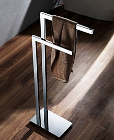 General Hotel Chrome Floor Standing Towel Stand