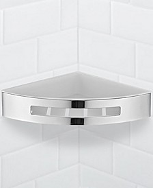 General Hotel Chrome Corner Wall-Mounted Shower Basket
