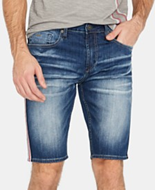 Buffalo David Bitton Men's Parker-X Side Stripe Slim Fit Jean Shorts