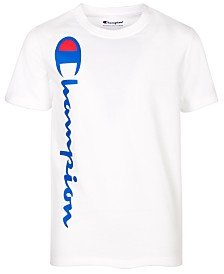 Champion Big Boys Heritage Logo-Print T-Shirt