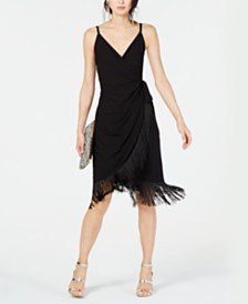 I.N.C. Petite Fringe-Trim Dress, Created for Macy's