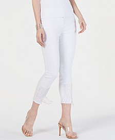 INC Embellished Cropped Jeans, Created for Macy's