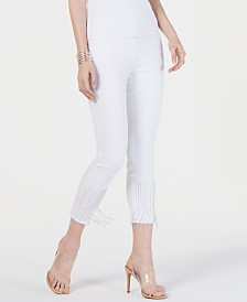 I.N.C. Embellished Cropped Jeans, Created for Macy's