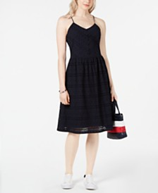 Tommy Hilfiger Cotton Eyelet Camisole Dress