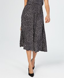 JM Collection Petite Printed A-Line Skirt, Created for Macy's