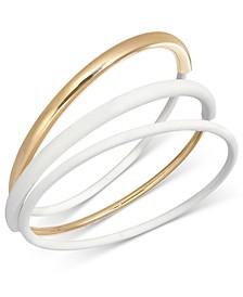 Gold-Tone 3-Pc Set Bangle Bracelets, Created for Macy's
