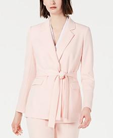 Calvin Klein Petite Belted Blazer