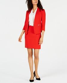 Anne Klein Cardigan Jacket, Tie-Neck Top & Pencil Skirt