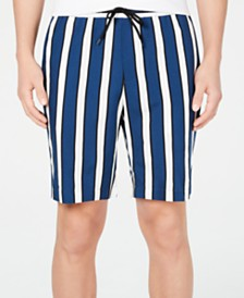I.N.C. Men's Striped Shorts, Created for Macy's
