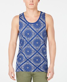 American Rag Men's Bandana Tile Graphic Tank, Created for Macy's