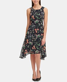 Tommy Hilfiger Petite Gala Floral High-Low Dress