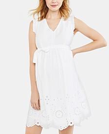 Eyelet A-line Dress