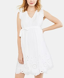 Motherhood Maternity Eyelet A-line Dress