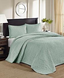 Quebec 3-Piece Queen Quilted Bedspread Set
