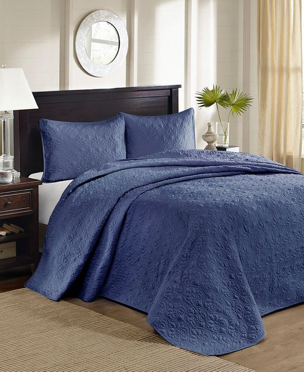 Madison Park Quebec 3-Piece Queen Quilted Bedspread Set