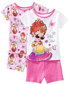AME Toddler Girls 2-Pack Fancy Nancy Graphic Cotton Pajamas